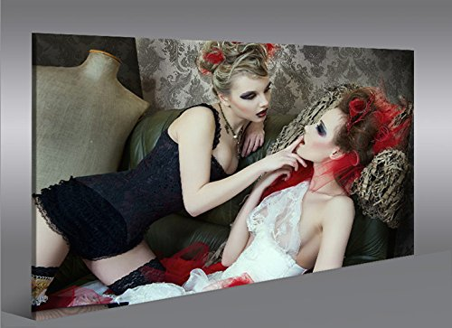 Quadro moderno arte Erotica V4Artful Nude Impresión sobre lienzo–Quadro X sillones salón cocina muebles oficina casa–Fotográfica Tamaño XXL cuadros por islandburner
