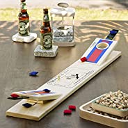 Mini Tabletop Cornhole Games, Portable Travel Wood Beanbag Toss Game Board with Adjustable Launch Pads, Parent