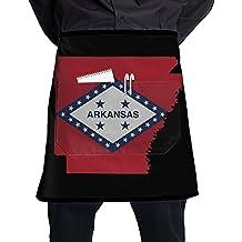 QWCVAS Flag Map Of Arkansas Fashion Apron Restaurant Waitress Half Pub Aprons