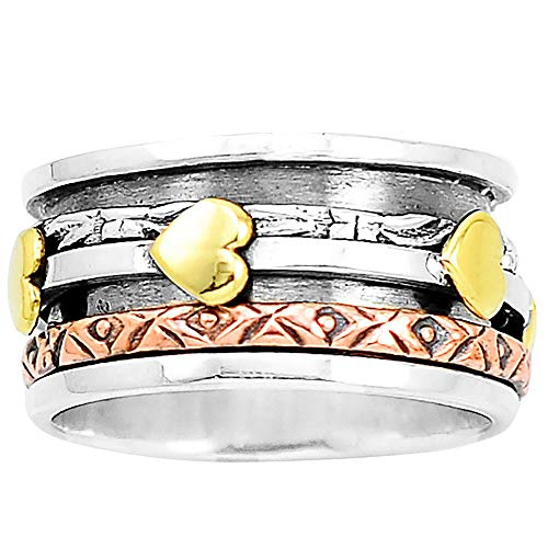 Desiregem Anti Anxiety and Worry Less Spinner Ring Spinning Size DGR1037 (9)