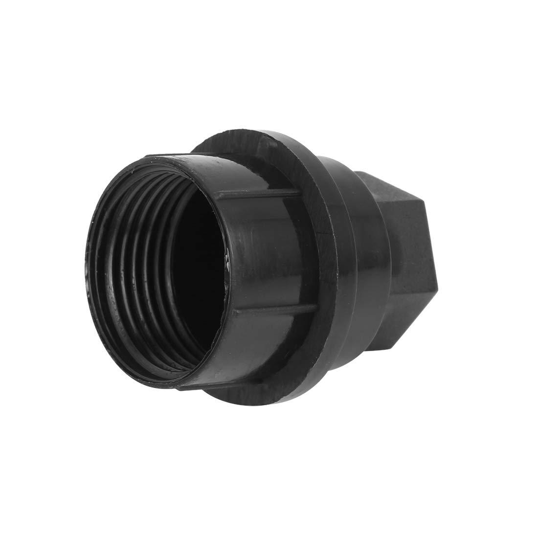X AUTOHAUX Wheel Lug Nut Cover Black M26-2.0 for GMC Yukon C2500 C3500 Chevrolet 15646250