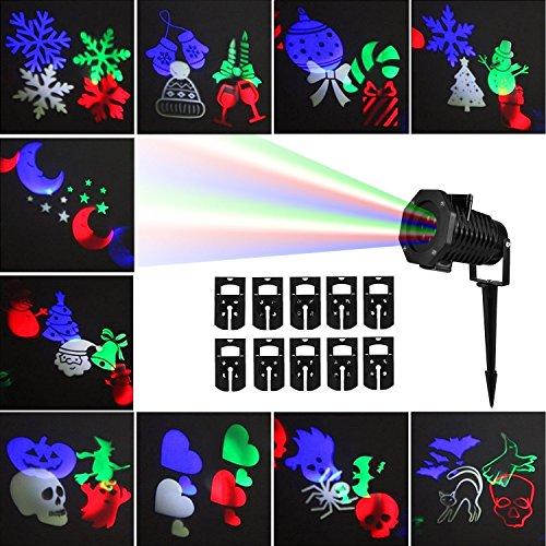 Projector Lights, Auledio Outdoor IP65 Waterproof Snowflake ...