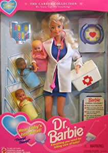 Dr. Barbie Doll w 3 Baby Dolls - Special Edition Career Collection (1995)
