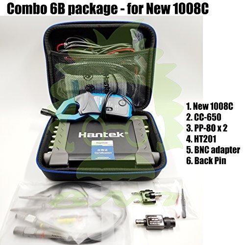 Hantek _BMT_ Combo 6B New! 1008C / CC-650 Current clamp / 2pcs PP80 60MHz Probe / 2pcs Back pin/BNC to Multi-Meter Adapter / HT201 20:1 Attenuator