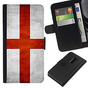 EJOY---La carpeta del tirón la caja de cuero de alta calidad de la PU Caso protector / LG G2 D800 / --Nacional bandera de la nación País Inglaterra