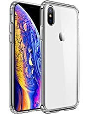 Mkeke Compatible with iPhone Xs Case,iPhone X Case,Clear Anti-Scratch Shock Absorption Cover Case for iPhone Xs/X Black