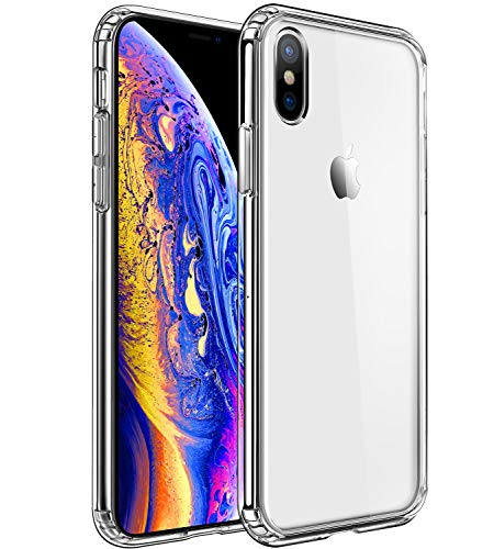 - Mkeke Compatible with iPhone Xs Case,iPhone X Case,Clear Anti-Scratch Shock Absorption Cover Case iPhone Xs/X
