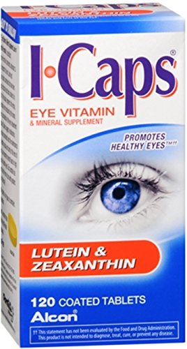 ICAPS Lutein & Zeaxanthin Tablets 120 Tablets (Pack of 12) by ICaps