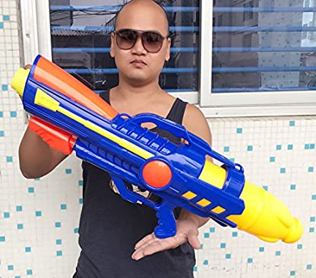 HA Pistola de Agua Inflable Pistola de Aire Grande 80Cm Pistola de Presión de Agua
