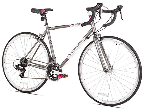 Giordano Acciao Venus Women's Road Bike, 700c, Grey/White/Pink, Medium
