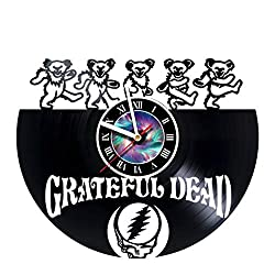 Grateful Dead Design Vinyl Record Wall Clock Unique gifts for him her Gift Ideas for Mothers Day Father birthday anniversary wedding cute and funny original gifts - LEAVE A FEEDBACK AND WIN A CLOCK