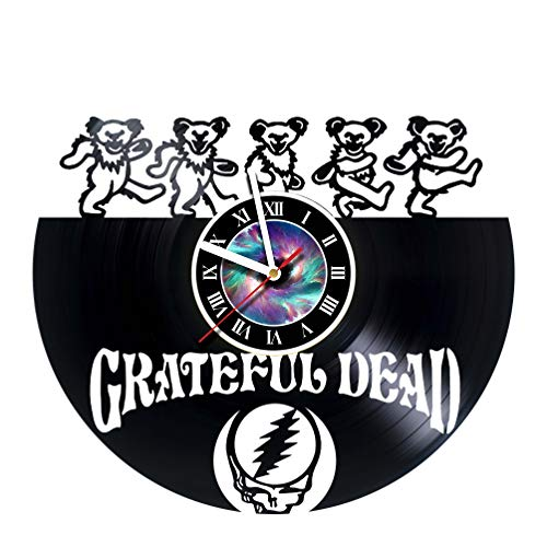 Grateful Dead Design Vinyl Record Wall Clock Unique gifts for him her Gift Ideas for Mothers Day Father birthday anniversary wedding cute and funny original gifts - LEAVE A FEEDBACK AND WIN A CLOCK -