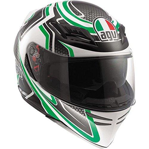 AGV Horizon Racer Full Face Motorcycle Helmet - Green (Medium)