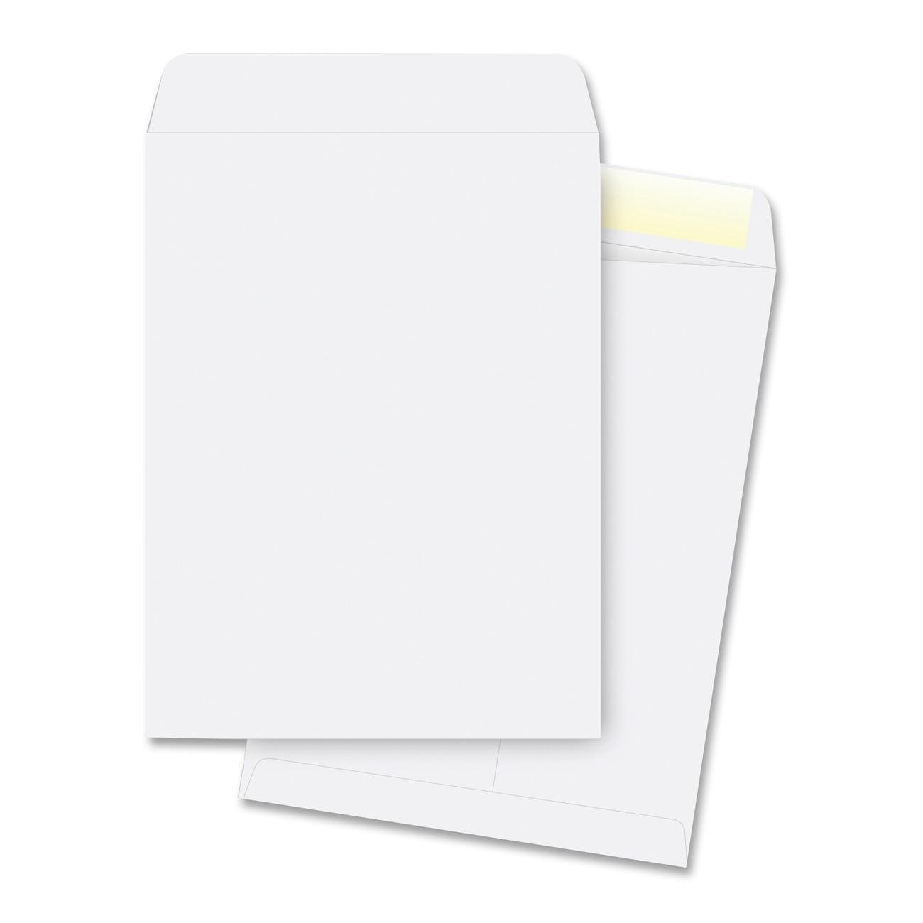 Catalog Envelopes, Plain, 28 Lbs, 9-1/2'x12-1/2'', 250 per Pack, White by Business Source (Image #1)