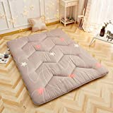 HM&DX Quilted Tatami Floor Mattress,Folding Anti-Slip Japanese Traditional Futon Mattress Bed Mattress pad for Dorm Bedroom -B 120x200cm(47x79inch)