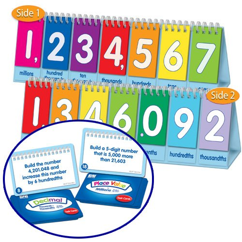 EAI Education Place Value to Millions/Decimal Flip Chart: Student Set of 10