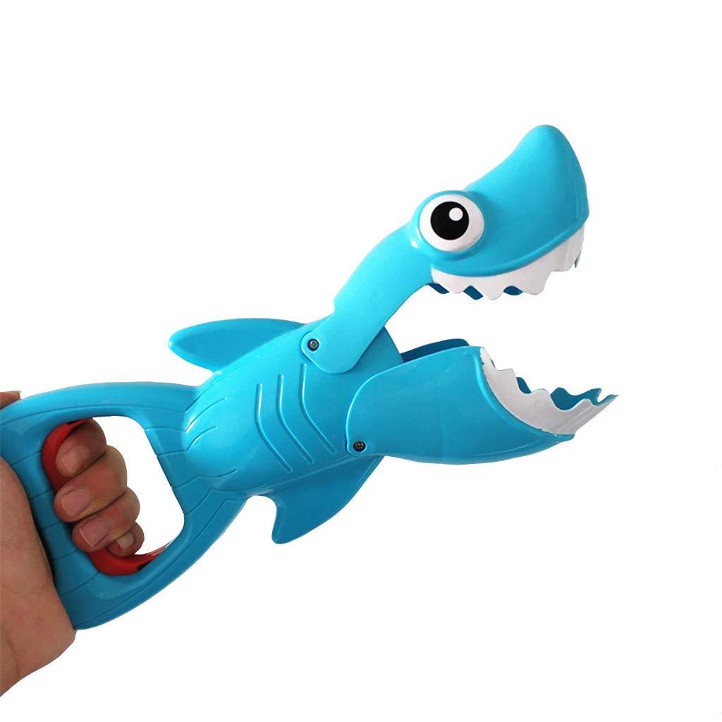 Gioco per Il Bagno,TwoCC Grabber di Squalo Giocattolo Cattivo per Ragazzi E Ragazze Squalo Blu con Denti con 4 Fishe Giocattolo