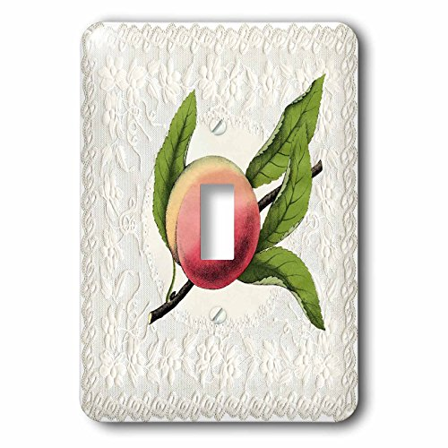 Doily Light Peach (Florene Victorian Images - Image of Peach On Victorian Embossed Doily - Light Switch Covers - single toggle switch)