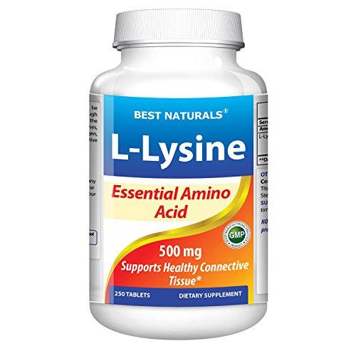 L-Lysine 500 mg 250 comprimés de meilleures Naturals--acide Amine essentiel--fabriqués dans une CUA base GMP certifié installation et tierce partie testé de pureté. Garantie!!