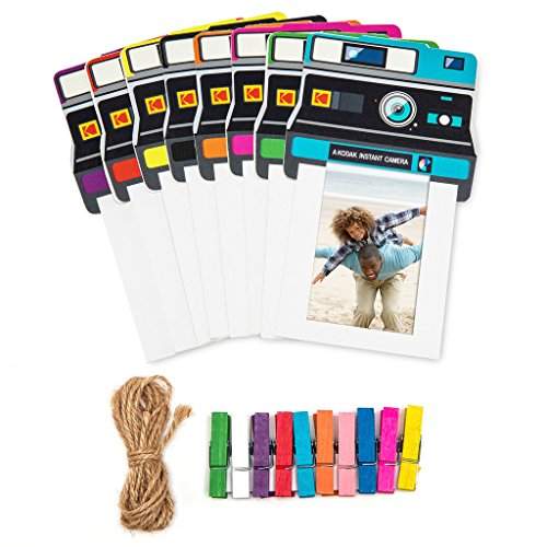 Kodak Vintage Photo Frames - Colorful 2x3 Frames Includes Classic Camera Frames, Magnetic Clothespins & String 8 Pack (Printomatic, Mini Shot, - Kodak Pin