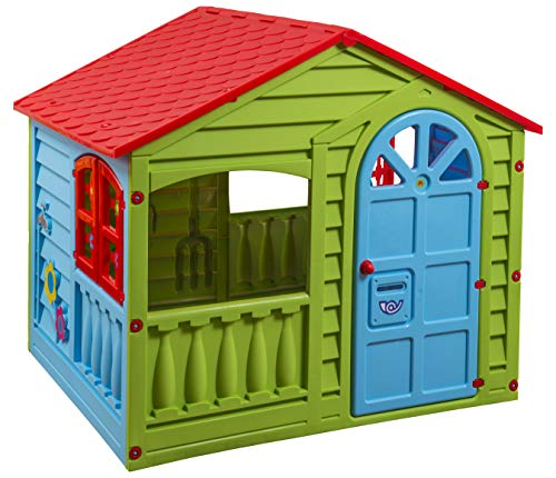 Palplay Colorful Fun House, Medium, Green/Red/Blue from Pal Play