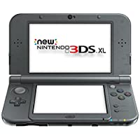 Nintendo New 3DS XL Starter Bundle includes Hylian Shield Case and AC Adapter (Black)