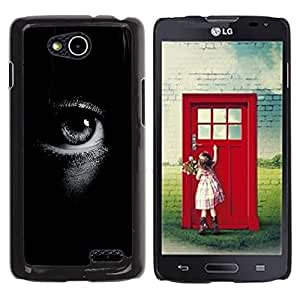 Exotic-Star ( Deep Black White Focus Meaning ) Fundas Cover Cubre Hard Case Cover para LG OPTIMUS L90 / D415