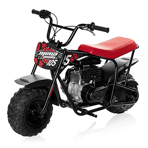 Mega Moto - Gas Mini Bike - 105CC/3.5HP Without Suspension (MM-B105-RB)(Red)