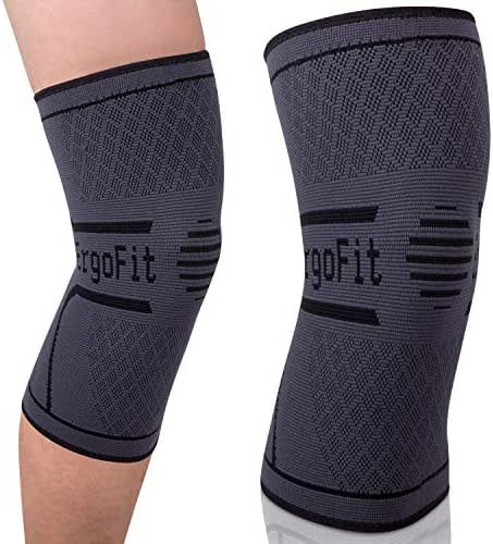 ErgoFit Therapeutics Knee Compression Sleeve (Single Wrap) - Doctor Recommended Best Brace for Women and Men, Plus Size, Sports Injury Recovery, ACL, Tendonitis, Meniscus, Arthritis