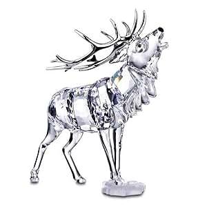 Swarovski crystal figurines 291431 stag home kitchen - Swarovski stag figurine ...