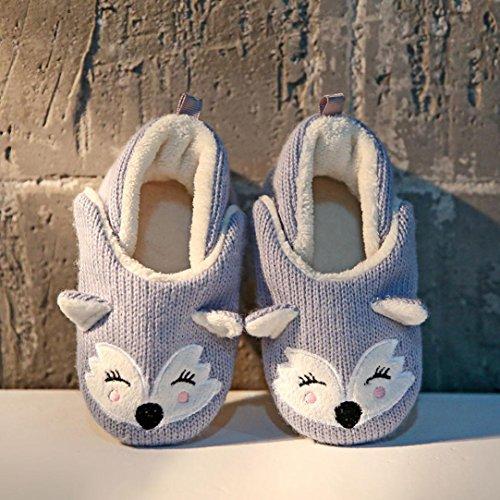 BZLine Baby Mädchen junge stricken Cartoon Design Kleinkind wärmen Krippe Schuhe Blau