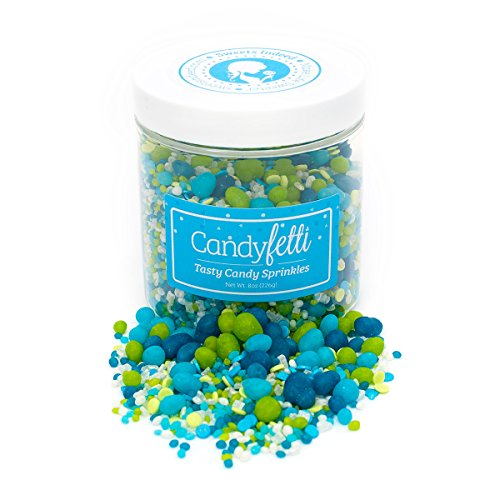 Candy Sprinkles | Under The Sea Candyfetti | 8oz Jar | Green and Blue | MADE IN THE USA! | Edible Confetti by Sweets Indeed (Image #1)'