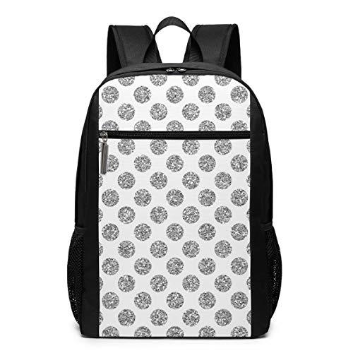 GgDupp Glitter-Polkadot School Bag Travel Backpack 17 Inch Laptop Bag (17 Inch Laptop Bag Polka Dot)