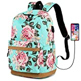 Laptop Backpack for Girls Teens School Bookbag Women Floral Dayback