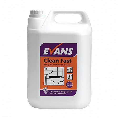 Evans Clean Fast   Heavy Duty Bactericidal Washroom Cleaner   5ltr