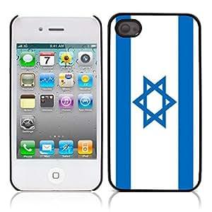 The Israeli flag Hard Plastic and Aluminum Back Case for Apple iphone 4 4S