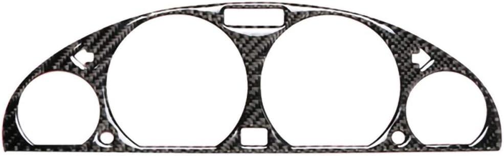 Semine Autocollants d/écoratifs de Couverture de Tableau de Bord de Cadre d/écoratif de Panneau de Bord de Panneau de Bord Interne de Fibre de Carbone pour BMW E46 M3 1998-2005