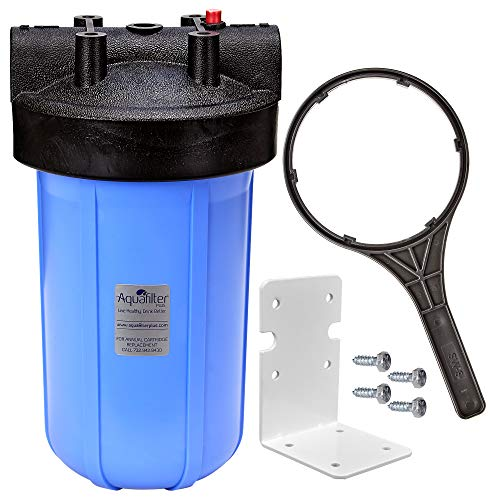 Aqua Filter Plus Whole House Water Filtration For Use With Sediment or Carbon Block Filter Cartridges - 10