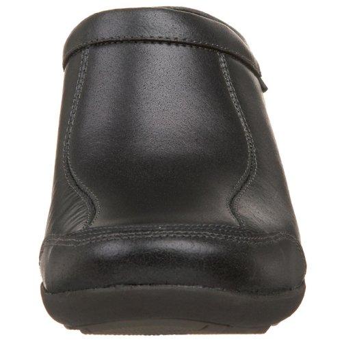 Hush Puppies Womens Pent Clog Black Leather