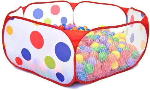 200 Phthalates Free Non-Toxic Crush Proof Non-Recycled 6.5cm Play Ball & Polka Dot Hexagon Pen