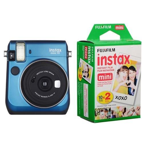 Fujifilm instax Mini 70 Instant Film Camera, Island Blue - B