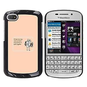 TECHCASE**Cubierta de la caja de protección la piel dura para el ** BlackBerry Q10 ** Technology Addiction Love Funny Quote