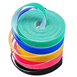 Darller 5 Roll Reusable Cable Straps Cable Ties
