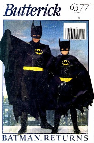 Butterick 6377 Sewing Pattern Batman Returns Costume Extra Small - Small - Medium - Large for $<!---->