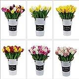 Omygarden 30pcs Multicolor Artificial Tulips, Fake