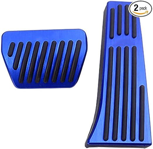 TongSheng 2pcs No Drill Anti-Slip Fuel Brake Steel Foot Pads Pedals Cover for BMW F30 F31 F34 F32 F33 F36 F10 F25 F26 F15 F16 E70 E71