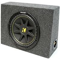 ASC Package Single 10 Kicker Sub Box Regular Cab Truck Subwoofer Enclosure C10 Comp 300 Watts Peak
