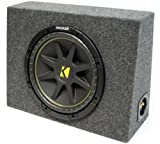 ASC Package Single 12'' Kicker Sub Box Regular Cab Truck Subwoofer Enclosure C12 Comp 300 Watts Peak