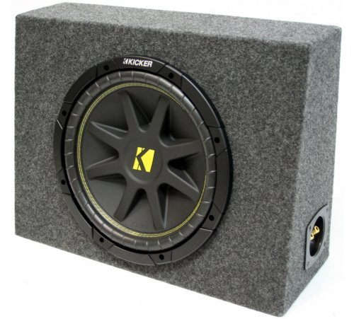 ASC Package Single 10 Kicker Sub Box Regular Cab Truck Subwoofer Enclosure C10 Comp 300 Watts Peak