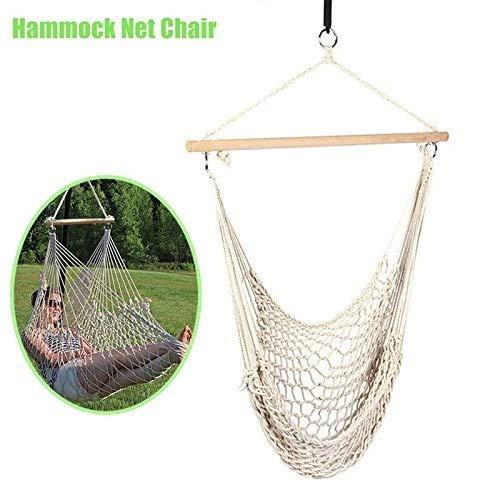 La Chaise de hamac intérieure extérieure accrochante de Corde de Coton d'oscillation accrochante de berceaux d'enfants Adultes préside Le siège de balançoire  -